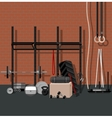 Sport gym flat set vector image