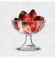 Realistic Strawberry In Chocolate Composition vector image