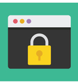 Browser and Lock Icon Dark Background vector image vector image