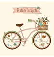Retro bicycle vector image