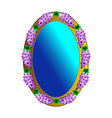 mirror with grapes vector image