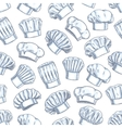 Chef toques caps and hats seamless background vector image