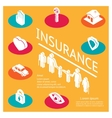 Family insurance concept vector image