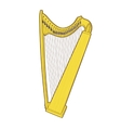 Gothic lever celtic harp vector image