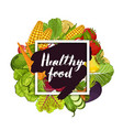 healthy farm food banner with vegetable vector image