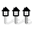 key with house on it vector image