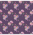 seamless pattern with beautiful roses vector image