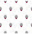 skull funny seamless pattern vector image
