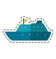 yacht luxury travel destination cutting line vector image