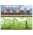 Metallurgical Plant and Power vector image