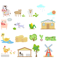 Farm cartoons vector image vector image