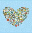 colorful tea doodles vector image