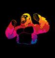 abstract angry king kong big gorilla vector image