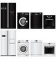 home appliances set of household kitchen technics vector image