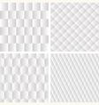 4 seamless geometric patterns vector image