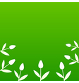 Green summer background with tulips vector image