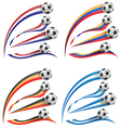 flag set whit soccer ball vector image