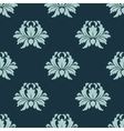 Light and dark blue floral seamless pattern vector image