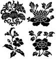 flower emblem vector image vector image