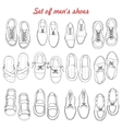 Set of men shoes on white background vector image