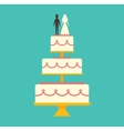 Wedding cake Isolated on background vector image