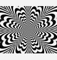 abstract spiral black andwhitewith optical vector image
