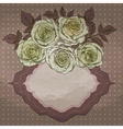 Brown Vintage Frame with Roses vector image