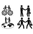 businessman deals set vector image