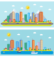 Day urban landscape vector image