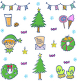 Doodle of cute object christmas vector image