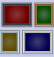 Frames on the wall vector image