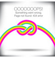 unusual knotted rainbow vector image