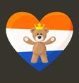 Dutch Royal Teddy Bear vector image