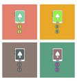 flat icon design collection casino online vector image vector image