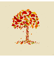 Abstract Orange Tree vector image