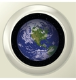 Earth and space in window vector image