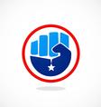 hand freedom star logo vector image