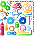 Bike tools icons vector image
