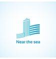 Property by the sea vector image