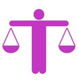 Lawyer icon from Business Bicolor Set vector image