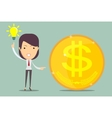Ideas and money vector image