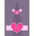 champagne bottle vector image vector image