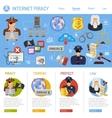 Internet Piracy Concept vector image vector image