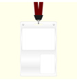 ID badge vector image vector image