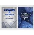 City Christmas Postcard vector image