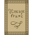 Decorative vintage frame Greeting Card or Poster vector image