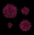 fireworks set isolated on black vector image