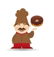 baker holding donuts vector image