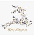Stock christmas deer with decorative vector image
