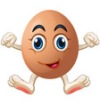 Egg with face and hands vector image